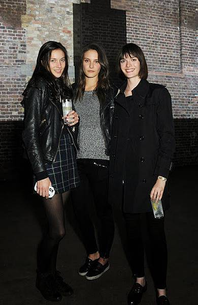 Matilda Lowther, Sam Rollinson and Charlotte Wiggins at the Burberry Brit Rhythm gig in London