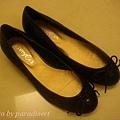 閃亮亮小性感淺口亮片芭蕾舞鞋~黑色