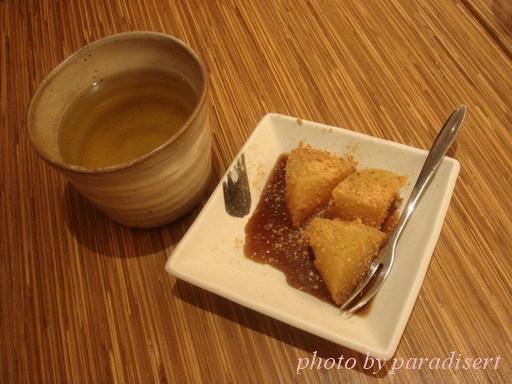 玄米茶與黑糖涼糕