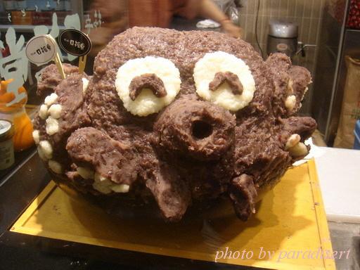 紅豆泥做成的章魚