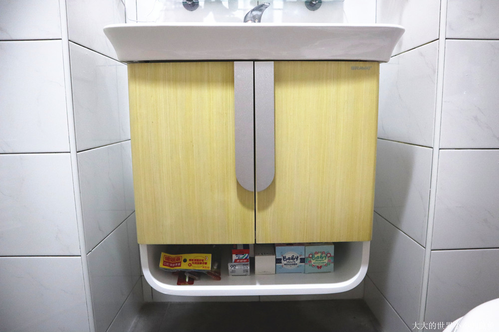 特力屋獨家代理 BRAVAT U型實木多層浴櫃  315