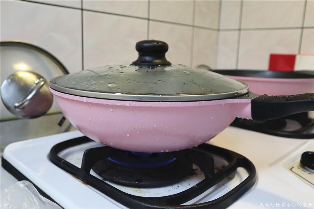 韓國Wonder Mama 玫瑰粉鈦原石不沾雙鍋組32