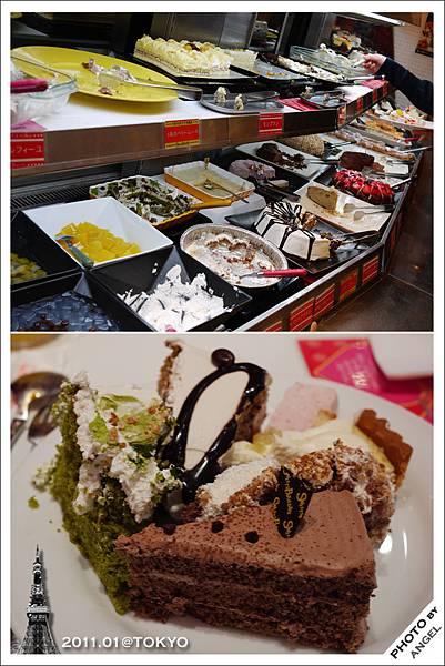 甜食區:十多種蛋糕點心隨你吃啦!