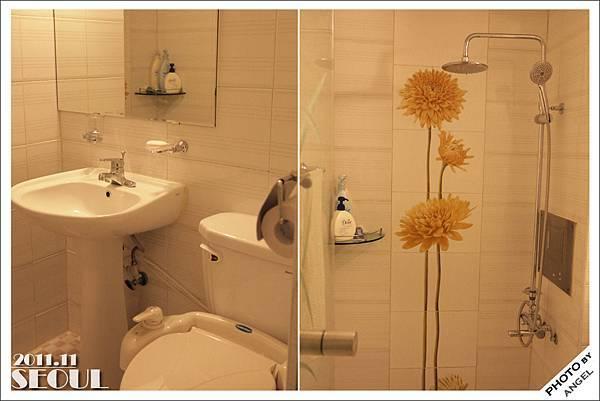 AMIGA HOTEL的廁所,大又乾淨,如果水流再強一點就更棒了!