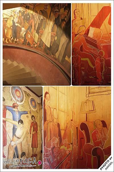 只有參加導覽才能欣賞平常看不到的2樓壁畫.jpg