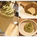 選用濟州綠茶製成的各式甜品.jpg