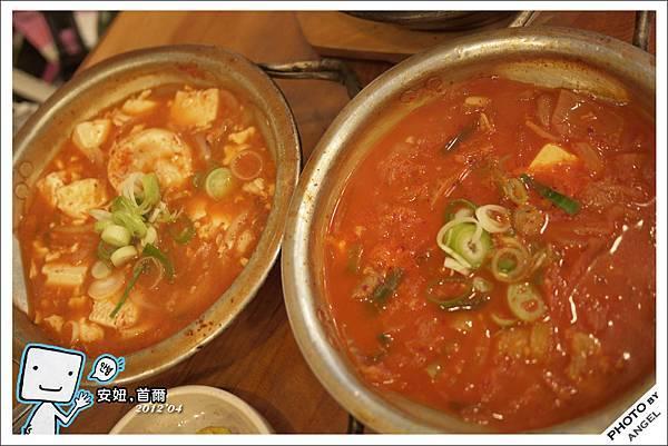 海鮮豆腐鍋&泡菜豬肉鍋