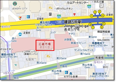 廣藏市場map