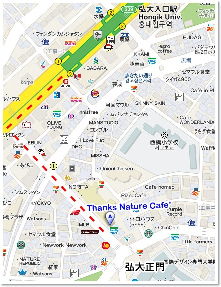thanks nature map