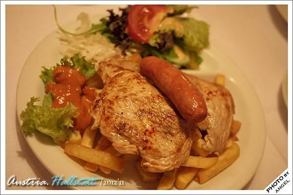 烤肉+薯條
