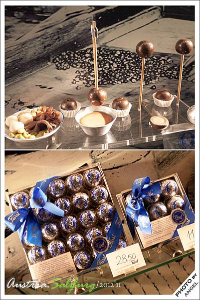 銀底藍字的巧克力是FURST的專利