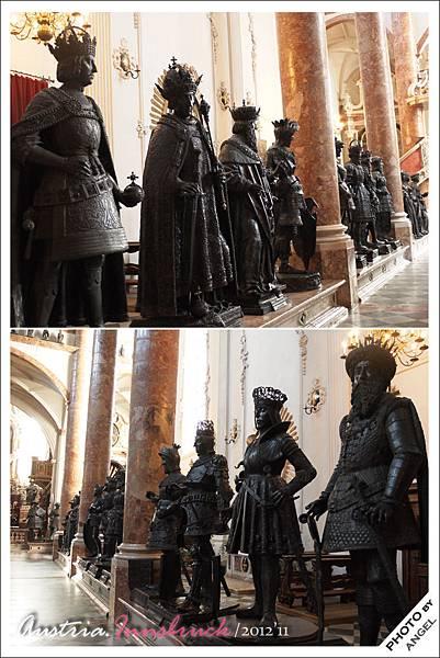 28座用來守護墓地的銅像