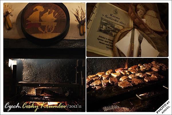 火爐就在餐廳中央,當場烤給你看