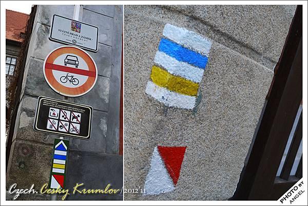 請問這些塗在牆上的顏色是代表捷克國旗嗎?
