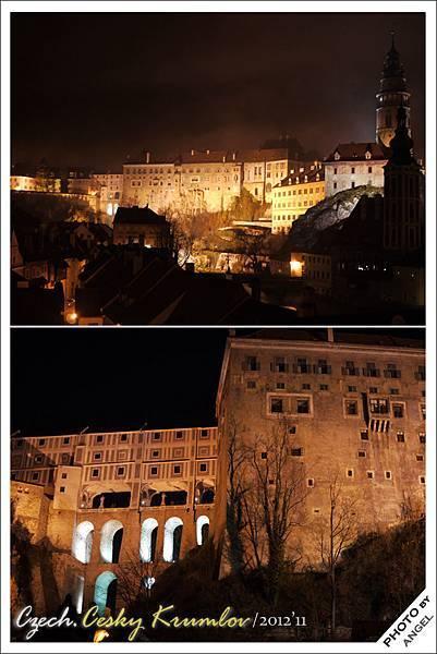 夜晚的城堡有陰森的FU