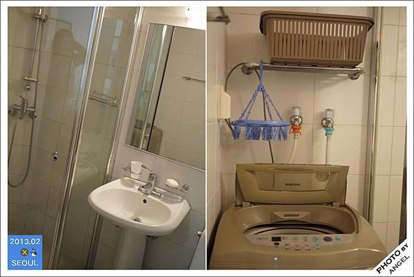 浴室還有洗衣機