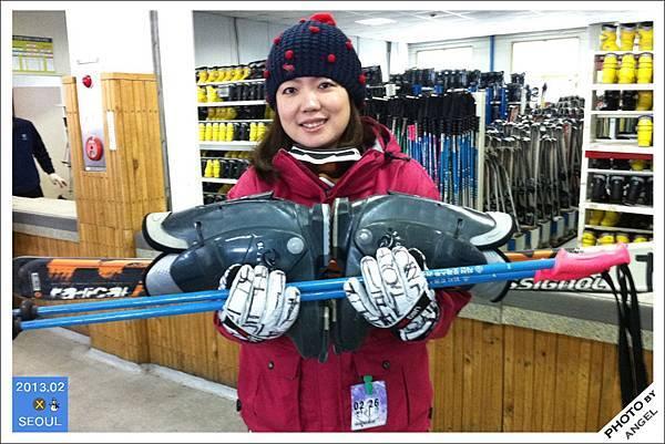 好重的雪橇和雪鞋