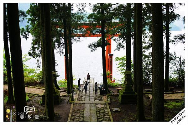 這座湖上鳥居是箱根神社一大看點