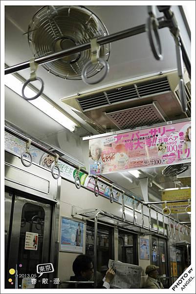 第一次看到電車上有電扇