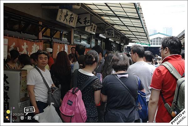 大和壽司前面的排隊人潮