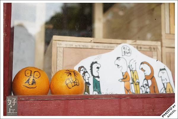 窗台上表情很多的橘子.jpg