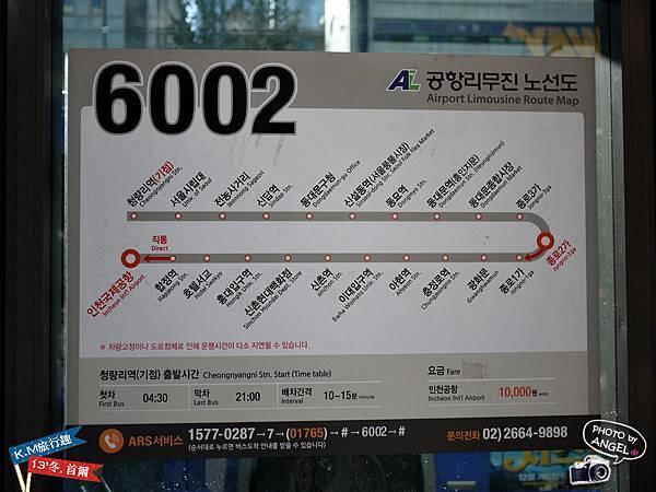 機場巴士6002路線圖