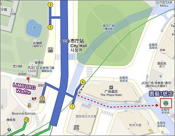 星巴克園藝1號店+鬆餅MAP