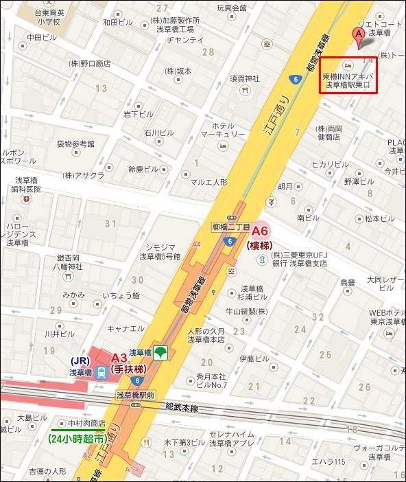東橫INN MAP