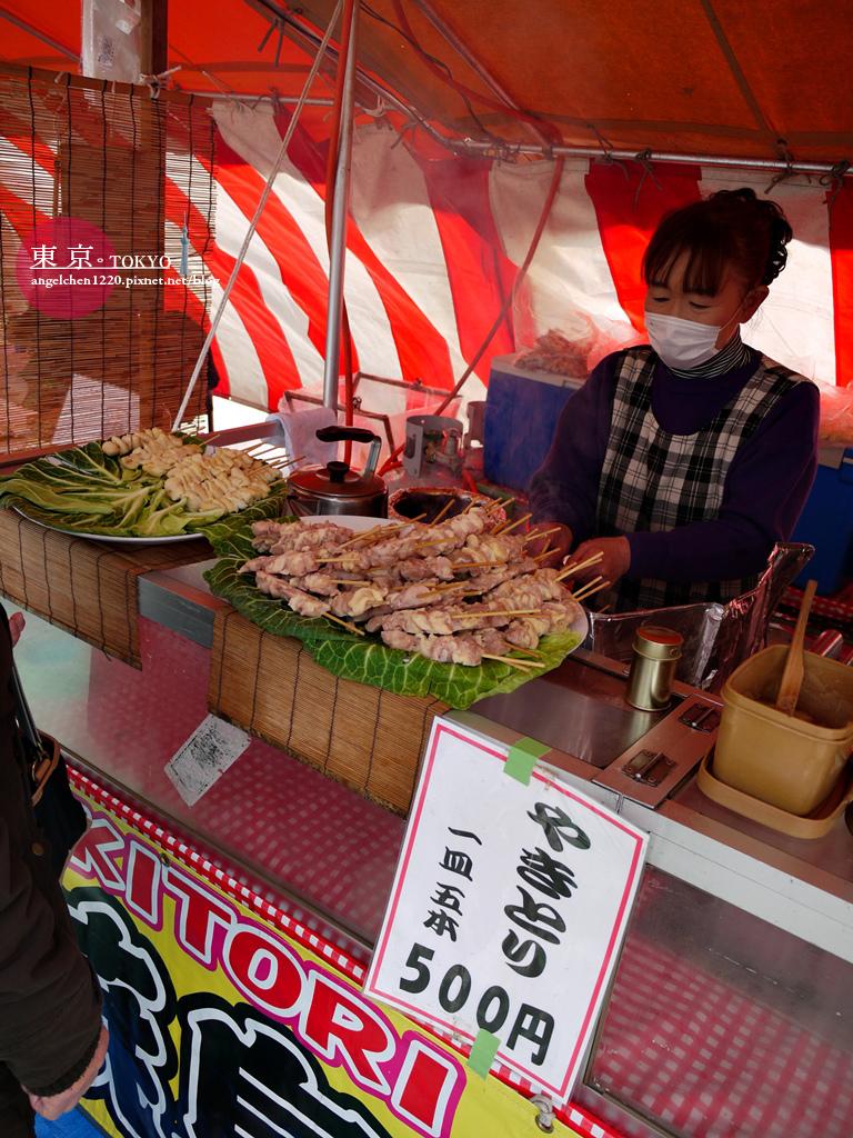 一串100日幣的烤肉串