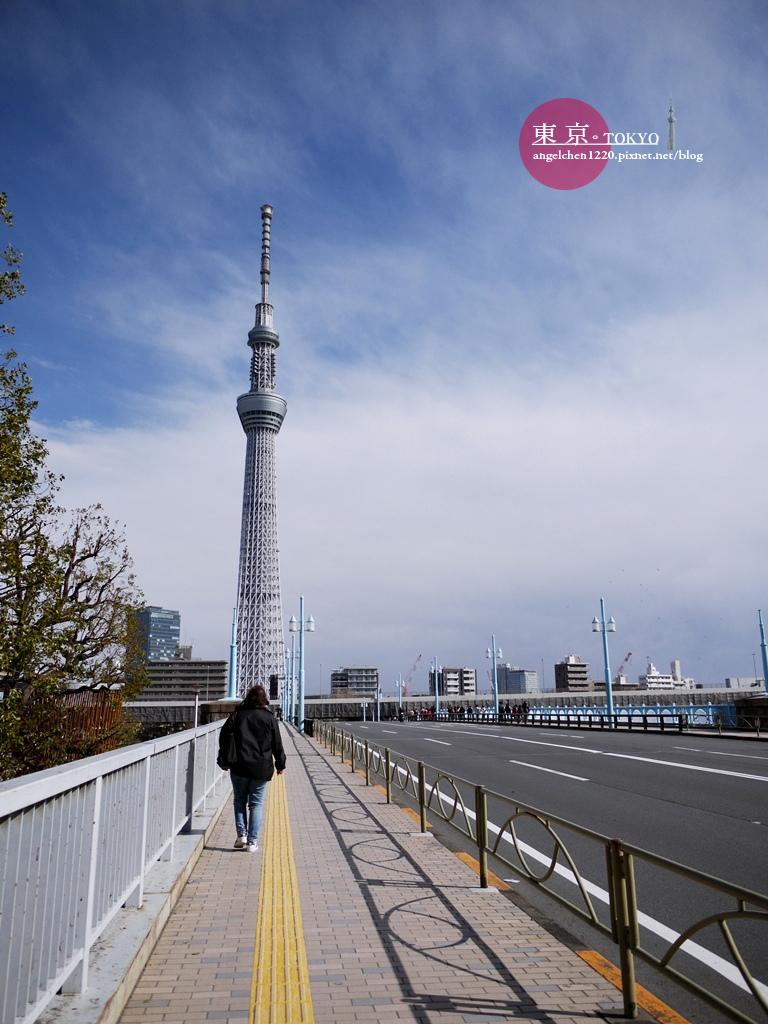 準備從今戶神社步行到晴空塔