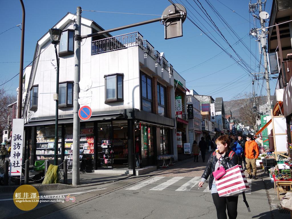 從這裡進去就是舊輕井澤銀座老街.jpg