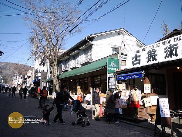 舊輕井澤銀座並不長,只有短短600公尺.jpg