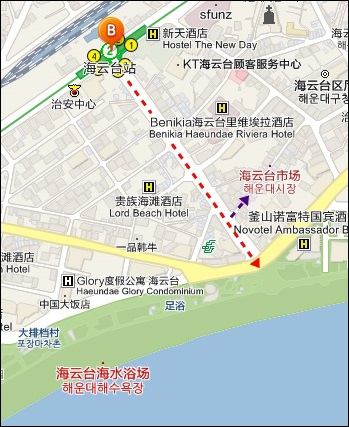 海雲臺MAP