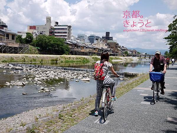 在京都騎自轉車也是一種小確幸.jpg