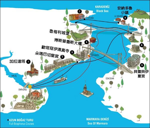 海峽遊輪路線
