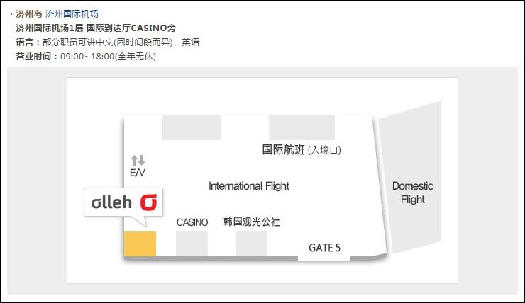 濟州機場KT櫃台
