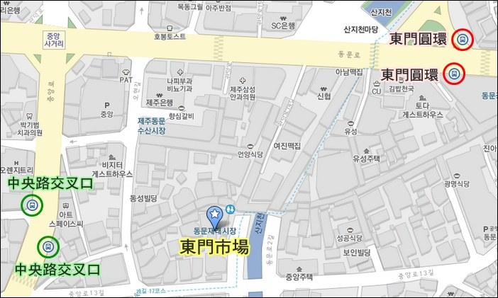 東門市場MAP