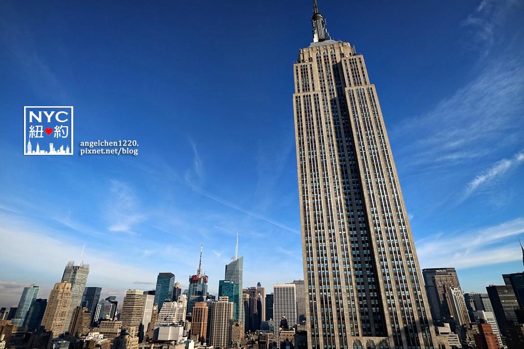 從I Enjoy NY Guesthouse屋頂可以清楚看見帝國大廈.jpg