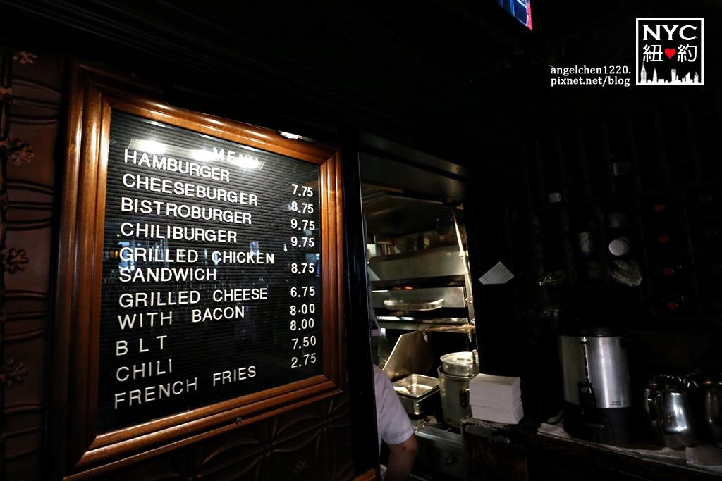 Corner Bistro menu