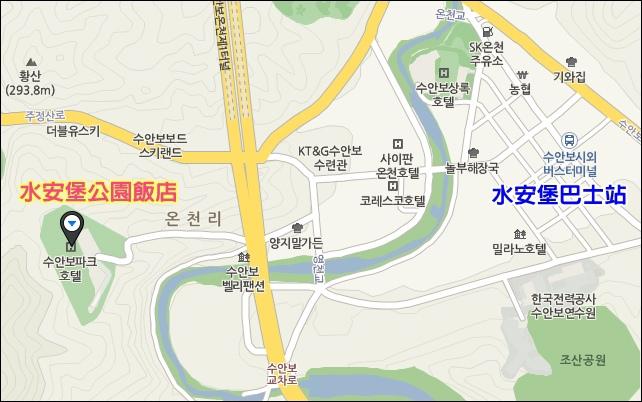水安堡溫泉map