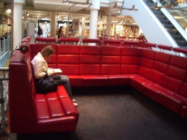 紅色的閱讀椅