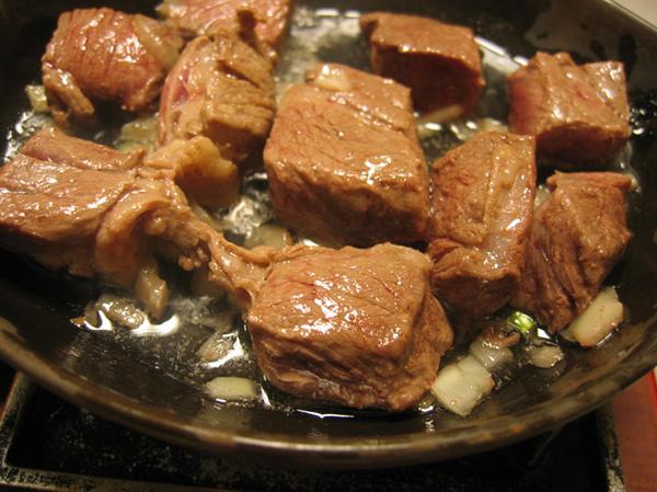 和風骰子牛肉~
