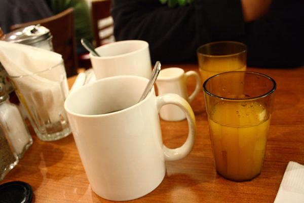 紅茶and柳橙汁