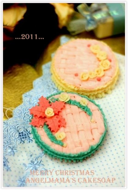 聖誕快樂蛋糕皂05