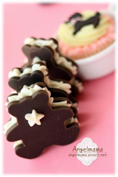 夾心奶油餅乾熊皂05