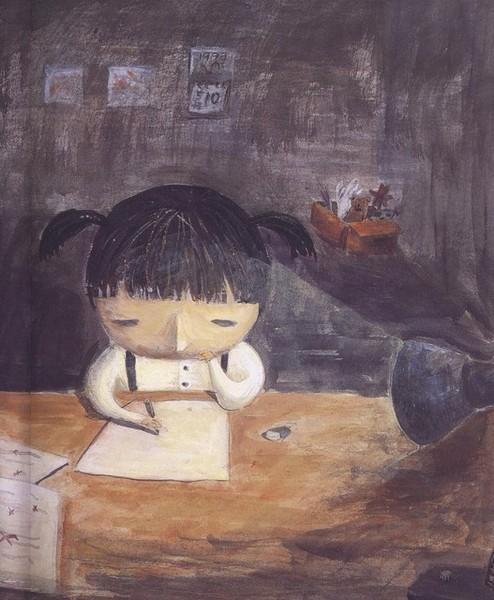 她不會寫作業,而且總是全班最後一名