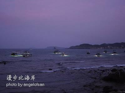 探照燈捕漁船