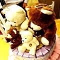 婚宴人家門口蛋糕的小熊熊