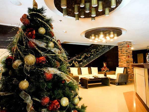 飯店的大廳也充滿聖誕氣氛