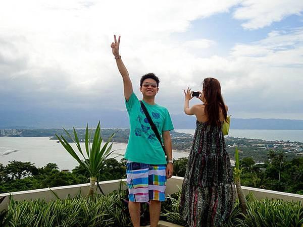 東岸是島上最高的地方,可以看全景